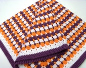 Clemson Modified Granny Square Afghan