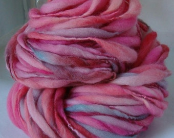 HAPPY HEART -- Handspun Yarn -- Thick and Thin