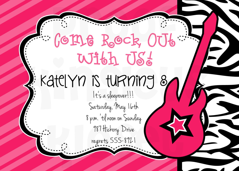 Rockstar Invitation Rockstar Party Rockstar Birthday – Rockstar Party Invites