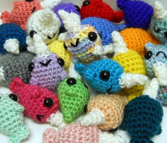 Custom Narwhal / Amigurumi Narwhal / Crochet Narwhal / Cute Narwhal Plush / Narwhal Plushie - Baby Narwhal Plush ANY COLOR, Made to Order