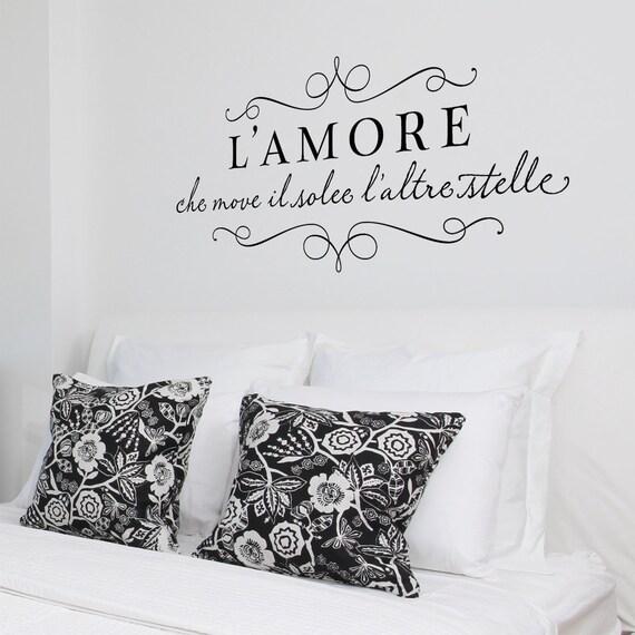 L'amore - Romantic vinyl wall decal