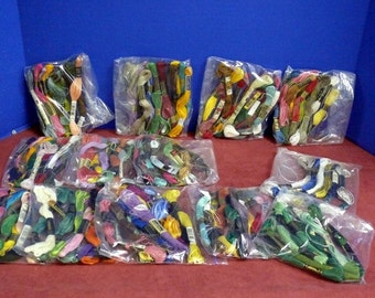 14 Packages of Embroidery Thread - Assorted colors and Styles
