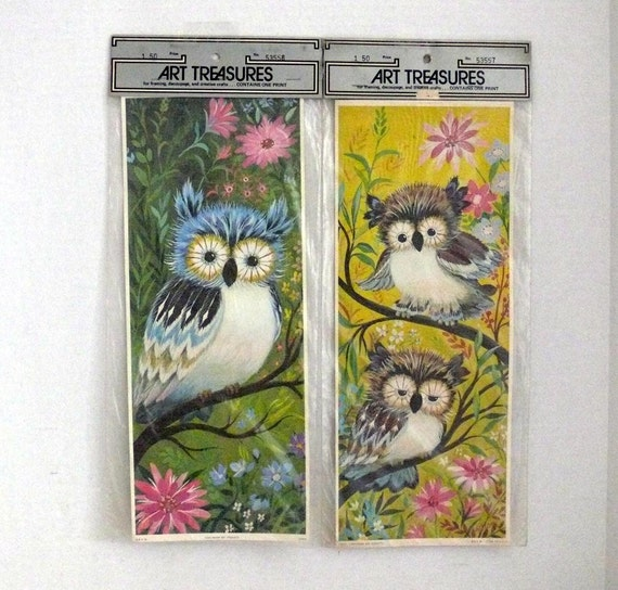 OWL Prints for Framing, Decoupage and Creative Crafts - Paper  Product