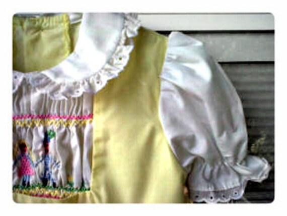 Vintage 3t Polly Flinders Fairy Tale Dress