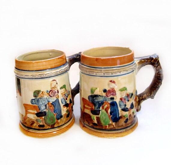 Ceramic Mugs   Japan  Vintage German Beer SteinsJapanese Ceramic Mugs