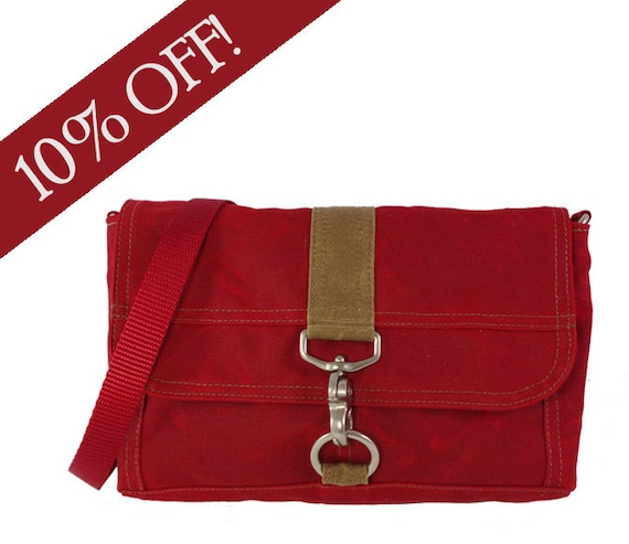 Ready to Ship Sale: Lucy - Red Waxed Canvas
