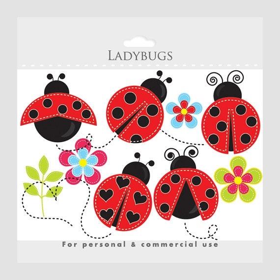 Ladybug clipart stitched ladybugs clip art lady bugs cute