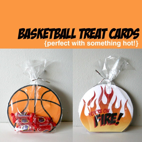 Printable Basketball Cards - You're on Fire