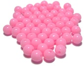 6mm Smooth Round Acrylic Beads in light pink 100pcs