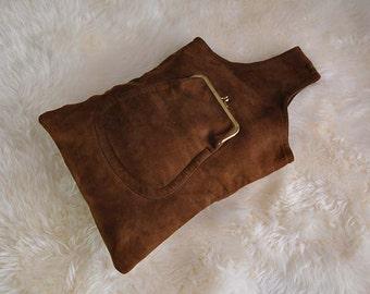 70s purse / Kiss Lock Vintage 1970's Bonnie Cashin Carry Bag Purse