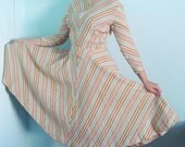 50s Chic Cheveron Geometric Wool Hostess Dress