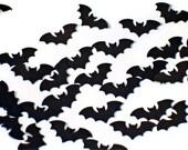 Paper Confetti Funfetti Bats in Black
