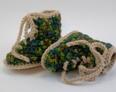 Baby Booties Camouflage Hunting  Hiking Combat or Work Boots Baby Shoes Crochet