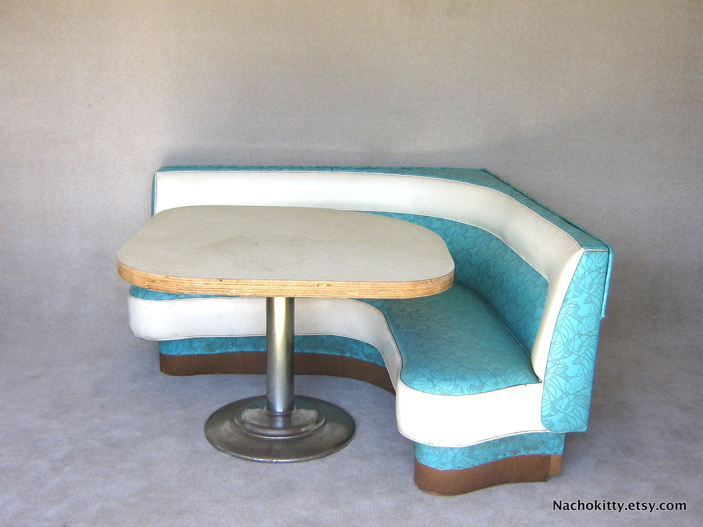 1950s Diner Booth Original Boomerang Vinyl Formica By