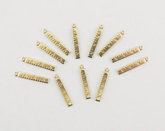 12 Brass Ruler Charms