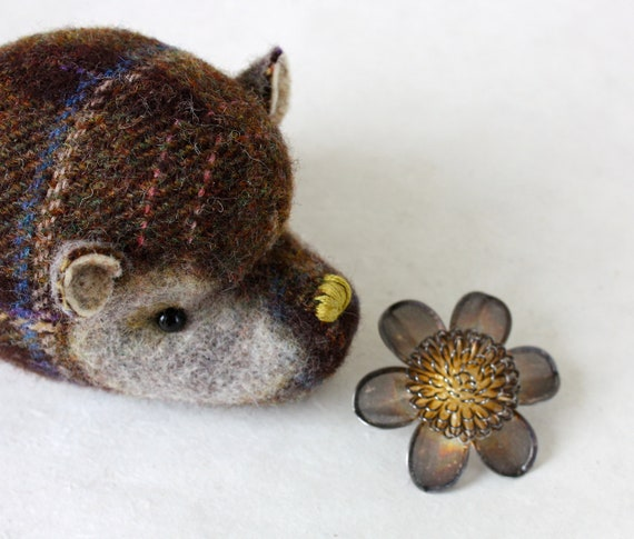 Hedgehog Plush Wool - Wee Hedgehog - Woodland