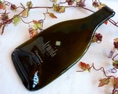 Slumped glass wine bottle cheese plate from Armida Winery