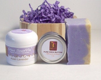Lavender Soap Gift Set Bath and Beauty Organic Soap Set,Natural Skincare, Etsy gifts for her