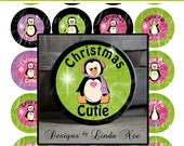 BUTTON Images 2.25 inch round 2.625 overall size - Christmas Cuties Digital Collage Sheet AMERICAN BUTTON Machine