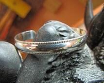 Sterling Silver Newborn Baby Bracelet with Milgraine Style Edge