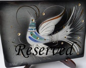 Vintage Sascha Brastoff Box Jewel Bird Art Pottery - Treasury Item - Originally 95.00 Now 65.00 - Reserved