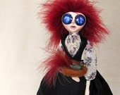 The Taxidermist's Wife - Victorian Gothic Art Doll