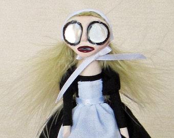 Abby The Nurse Maid - Peg Doll Art Doll
