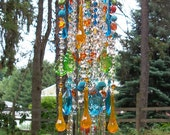 Jeweled Bohemian Spice Antique Crystal Wind Chime