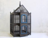 RESERVED FOR DANI - Big Vintage Gray Gothic Bird Cage