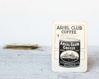 Vintage - Antique Household Words Playing Cards