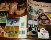 Plastic Canvas Patterns Homestyle Baskets Needlecraft Shop 846530 Pattern Leaflet