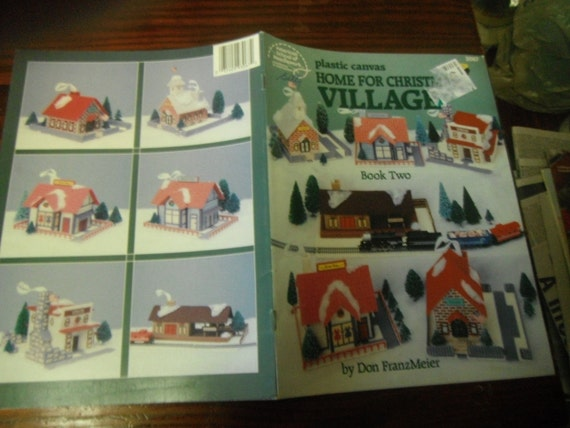 Christmas Cottages Home for Chistmas Village Book 2 Plastic Canvas Pattern Leaflet