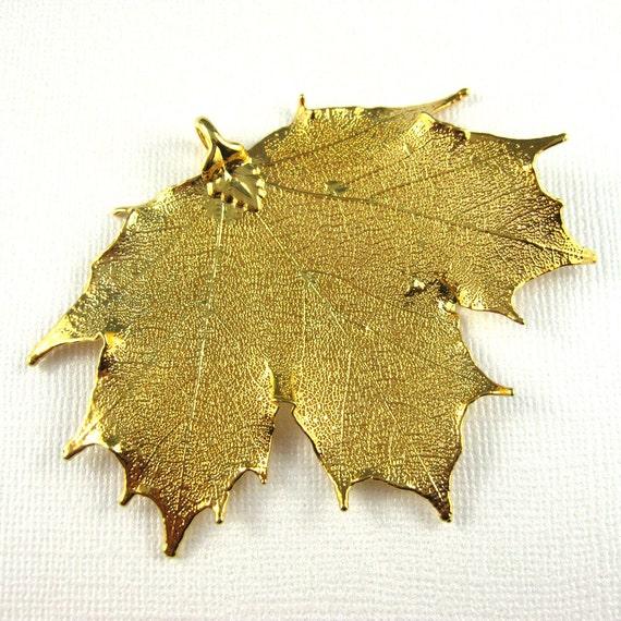 gold leaf pendant maple leaf pendant by melissaabram on etsy