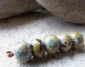 Purple Raku Handmade Lampwork Glass Bead Set