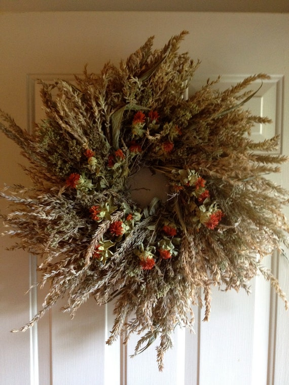 Dried Broom Corn Wreath