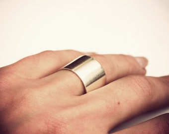 Tube - Unisex Ring - sterling silver