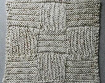 PDF Dishcloth - Washcloth  Knitting Pattern - Nine Squared