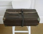 Vintage Case Mail Box Suitcase Postal Package Industrial Storage