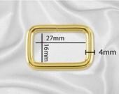 """100pcs - 1"""" Metal Square Ring - Gold (SQUARE RING SRG-110)"""