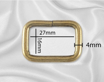 "30pcs - 1"" Metal Square Ring - Antique Brass (SQUARE RING SRG-112)"