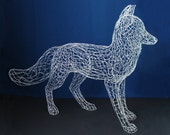 Life Size Fox Wire Sculpture