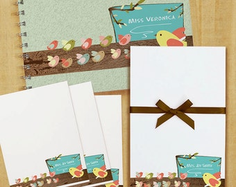 Stationery Set with Notepad, Cards and Journal - Classroom in a tree