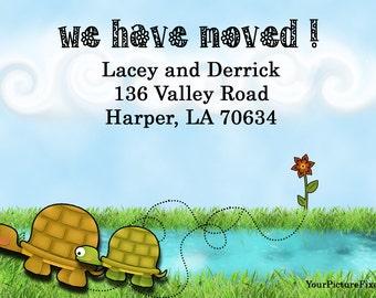 Change of Address postcards - Turtles