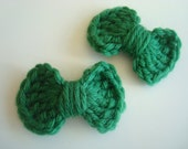 Mini Crochet Bow Hair Clips - Set of 2