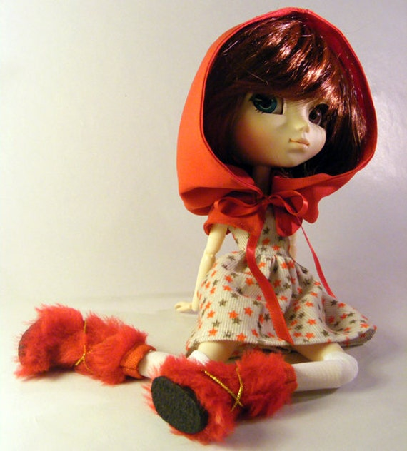 Pullip little red riding hood christmas outfit for pullip momoko
