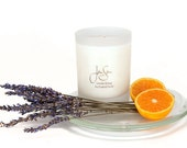 Lavender Orange Natural Soy Candle with Essential Oils, Handmade,  Aromatherapy, eco friendly, large 13 oz (369 grams)