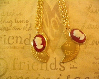 Sisters Best Friends Cameo Necklaces Jewelry Gift