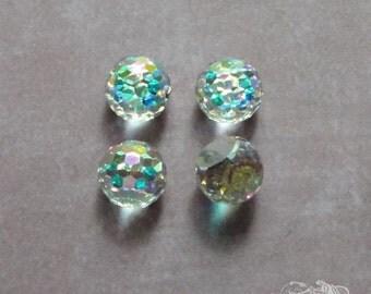 4 Swarovski Fireball Stones - Art 4861 - Crystal AB Comet Argent Light Z - 8mm