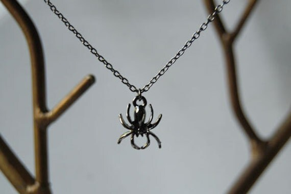 Spooky Spider Necklace