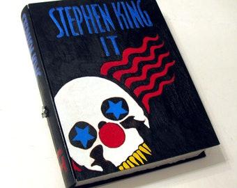 Secret drawer, hollow book.  Stephen Kings IT hideaway box. Unique & hand decorated. Hidden compartment.